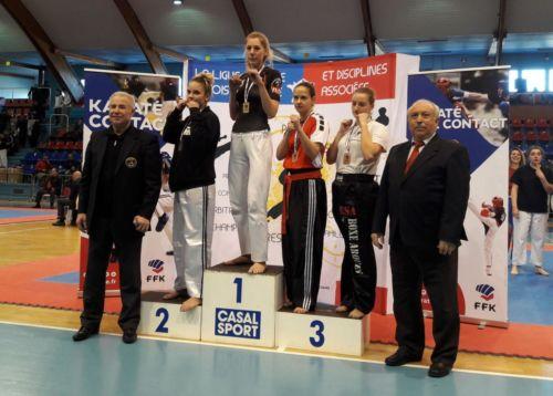 Chloée gagne la Coupe de France Light Contact à Valenciennes - Février 2018