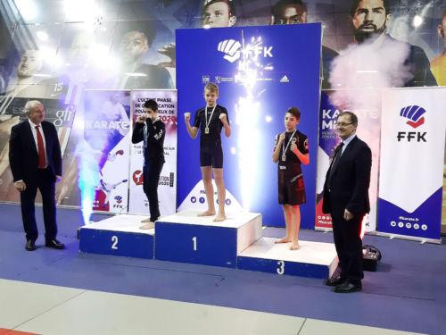 Timéo 3ème à la Coupe de France Karaté Mix Light à Paris - Décembre 2019