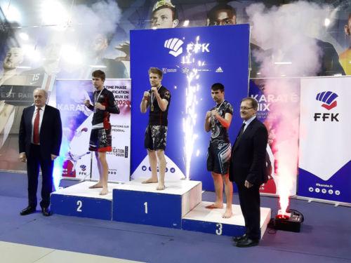 Gilles gagne la Coupe de France Karaté Mix Light à Paris - Décembre 2019